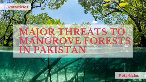 there areThreats to the Mangrove forests in Pakistan