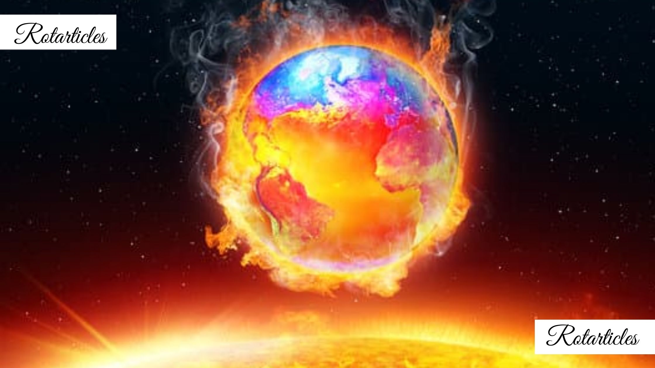 Planet is hot due to global warming